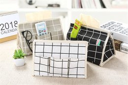 Pañuelos online-Algodón Caja de pañuelos de lino de usos múltiples Seis bolsillos Caja de papel Escritorio Bombeo Servilleta Soporte de papel Caja de toalla de papel impermeable