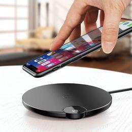 магнитная накладка iphone Скидка Baseus ЖК-цифровой дисплей Беспроводное зарядное устройство для iPhone XS Max XR X 8 Qi Беспроводная зарядная панель для Samsung Galaxy S8 Note 9