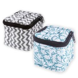 maquiagem fúcsia Desconto 9 Grids Óleo Essencial Jar Storage Bag À Prova de Choque 15 ml Óleo Essencial Caso Garrafas Pequenas Garrafas Recipientes com Zíper