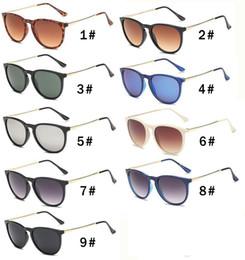 Защита приводов онлайн-10 ШТ. Летняя женщина мода металл Роскошные Дизайнерские Солнцезащитные Очки вождения Солнцезащитные очки Леди Солнцезащитные очки защиты пляжа солнцезащитные очки свободный корабль