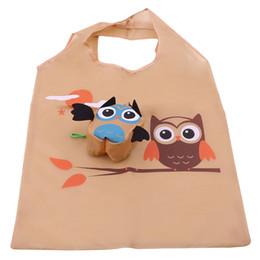 2019 sacos de armazenamento coruja Saco de Compras dos desenhos animados Portátil Coruja Bonito Tote Dobrável Reutilizável Organizador de Armazenamento Trolley Supermercado Saco de Grande Capacidade sacos de armazenamento coruja barato