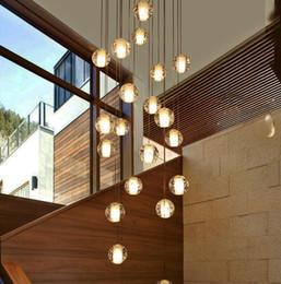 LED Cristal Pendentif Boule De Verre Météor Pluie Lumière Météorique Douche Escalier Bar Lustre Plafonnier Lustre Éclairage AC110-240V ? partir de fabricateur