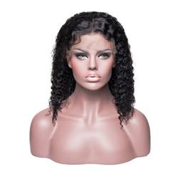 moda cabelo curto perucas Desconto Curto encaracolado bob frente perucas de cabelo humano com cabelo do bebê 150% densidade moda em camadas brasileiras remy reta bob perucas branqueada nós