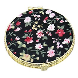 Косметика в стиле винтажа онлайн-1Pc Mini Round Pocket Folding  Mirror Vintage Double Sides Floral Printed Chinese Style Compact Cosmetic Tool Portable Tra