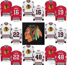 58a10cb9160 Chicago Blackhawks Jersey masculino 19 Jonathan Toews 16 Marcus Kruger 22  Jordin Tootoo 32 Michal Rozsival 33 Scott Darling 38 Hartman Jers