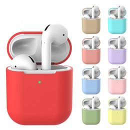 AirPods 2 2nd Için kulaklık Kılıfları Silikon Kapak Kablosuz Bluetooth Kulaklık AirPod Silm Için Hava Pod Kılıfı Koruyucu Kılıf nereden yapay elmasları kaybetmek tedarikçiler