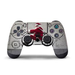 2019 кожаный винил ps4 Оптовая Санта-Клаус игры наклейки Виниловые для PS4 контроллер наклейка скины PS4 геймпад обложка для PS4 ПВХ протектор кожи прохладный скидка кожаный винил ps4