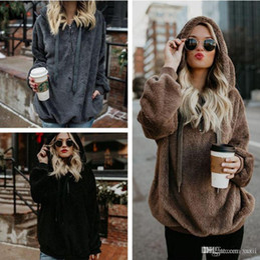 Women Hooded Hot Sale Womens Hoodie Girl Winter Loose Hoodie Hooded Jacket Warm Outerwear Coat Cute Sweatshirt 2018 New Black Women's Clothing