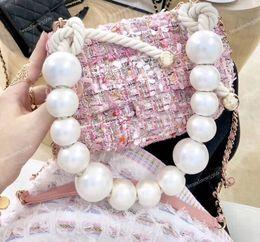 Canada 2019 Mode Sequin Poilue Perle Flap Sac Noir Rose Femmes Sequin Bandoulière Messenger Sacs Femme Épaule Perle Sacs Livraison Gratuite Offre