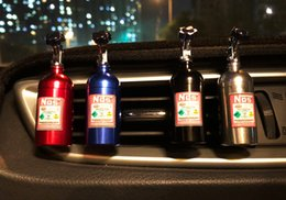 car nos Coupons - NOS Bottle Tank Ornaments Car Vents Perfume Clip Air Freshener Automobile Interior Fragrance Decoration