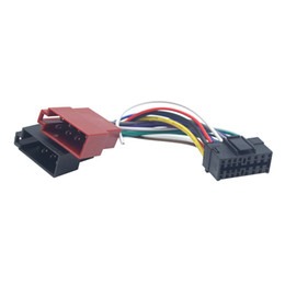 Cableado del conector iso online-venta al por mayor Radio para automóvil CD / DVD Adaptador de arnés de cableado estéreo ISO para Sony A Peugeot Audio Video 2-Head Cable conector de cable Cable # 6003
