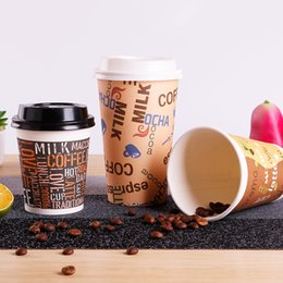 10PCS disposable portable paper cup tray, milk tea coffee