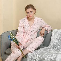 fd0fdb8bcf Sexy Silk Satin Pajamas Set Women Long Sleeve Sleepwear Home Suit Female 2  Pcs Night Shirts Pants Nightwear Pyjama Koszula  3