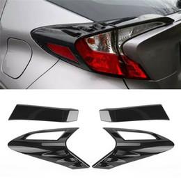 cubiertas de luz toyota Rebajas Modificación del coche 4Pcs Estilo de fibra de carbono Luz trasera trasera Cubierta de la luz trasera Ajuste para Toyota CHR C-HR