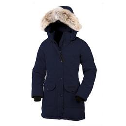 las mujeres se cubren de ganso Rebajas Abrigo largo de invierno para mujer, ganso, parka Trillium para mujer, chaqueta de plumas de ganso, abrigo de piel de coyote, parka Trillium para mujer, c13
