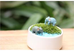 hthome 1,5 * 2,5 cm Moss decoración micro paisaje adornos Mini animado elefante simulación de las muñecas de elefante de dibujos animados mano desde fabricantes