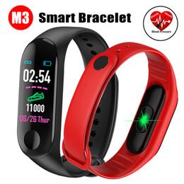 2019 compteur de sang oxygène au poignet M3 intelligente couleur USB Wristband écran de charge Bracelet de fréquence cardiaque Bracelets Bluetooth Blood Pressure Band intelligent pour Android IOS