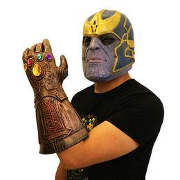 Guanti supereroi online-Marvel Avenger Alliance Unlimited War Gloves Gioco di ruolo Superhero Avenger League Thanos Guanti in lattice Halloween Decorazione per feste Giocattoli