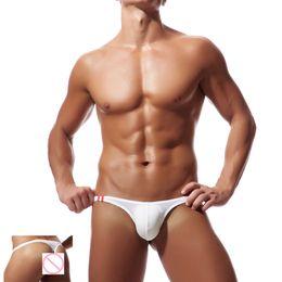 Mens G Strings 2018 New Sexy Low Rise Mens Perizoma Trasparente Erotic Pene Pouch Sissy Mutandine Bikini Slip Latex Uomo Cueca cheap transparent latex men da uomini trasparenti di lattice fornitori