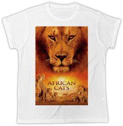 COOL AFRIQUE CATS FILM POSTER IDEAL CADEAU PRÉSENTE UNISEX RETRO COOL TSHIRT vêtements en jean camiseta ? partir de fabricateur