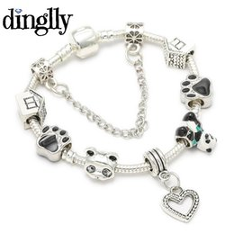 Panda charme armbänder online-DINGLLY niedlichen chinesischen panda bär charme armband für frauen europa original pandora armband schmuck geschenke