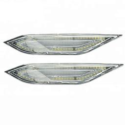 2019 положение автомобиля Пара автомобилей LED боковой маркер сигнала поворота лампы индикатор мигалка работает положение свет 12 в 6500 К для Cayenne 958 поколения 2011-14 дешево положение автомобиля