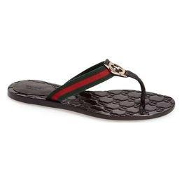 Kettenflip flops online-2019 luxus Frauen Leder Hausschuhe flip flops Designer Hausschuhe metallketten Sommer sandalen Strandschuhe mode hausschuhe mit box