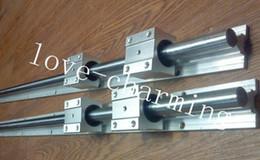 2 set SBR16-750mm 16MM COMPLETAMENTE ALIMENTATO LINEAR RAIL SHAFT + 4 pz SBR16UU Blocchi da blocchi di rulli fornitori