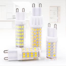 2019 lampara led cuentas blanco frio Bombilla G9 Lámpara CC 220V 230V 240V 5W 7W 9W 2835 Alta calidad de cerámica reemplazar la bombilla del LED halógena G9 de la lámpara