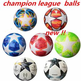 d63a22a2a 2018 Final KYIV European champion league Soccer ball PU size 5 balls  granules slip-resistant football Free shipping high quality ball