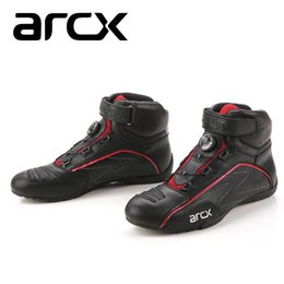 Moteur à boucle en Ligne-ARCX Motorcycle Racing Boots Rotating Buckle Breathable Street Motor Bike Scooter Motocross Boot Shoes