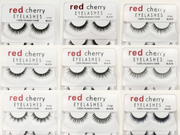 eyelashes wispies Promo Codes - RED CHERRY False Eyelashes Natural Long Eye Lashes Extension Makeup Professional Faux Eyelash Winged Fake Lashes Wispies 12 styles hot sale