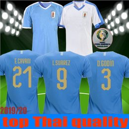 uruguay shirt Coupons - 2019 Copa America Uruguay Soccer Jersey 19 20 Home 9 L.suarez 21 E.cavani #3 D.GODIN Away Football kit Shirt Uniforms