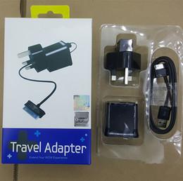 Para el conjunto de cargador de tableta Samsung 5V 2A EE. UU. UE, Reino Unido Adaptador de viaje de energía Cargadores portátiles para pared de casa para Galaxy Tab P1000 P5100 P3100 P6800 desde fabricantes