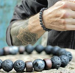 bracelets pour femmes poignets Promotion Nouveaux hommes femmes pierre de lave perlé bracelets extensibles yoga thérapie de guérison bracelet mode nouvelles femmes bracelets