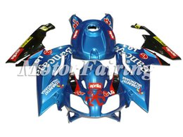 rs4 kit Promo Codes - New Fairing set Fit For Aprilia RS4 RSV125 RS125 06-11 RS125R RS-125 RSV 125 RS 125 2006 2007 2008 2009 2010 2011 Fairing Kit blue