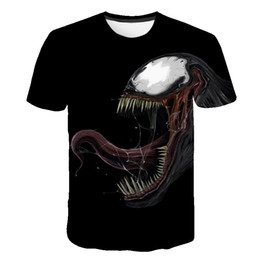 Argentina 2019 nuevos hombres camiseta 3D Verano moda impresión veneno de manga corta camiseta Cuello redondo de secado rápido camiseta casual Tops de hip hop cheap quick drying t shirts Suministro