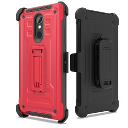 rugged cases belt clip Promo Codes - Defender Rugged Kickstand Holster Case for LG G8 K40 Samsung Galaxy M10 A10 M20 M30 A40s A20 A30 A50 Shockproof Cover Belt Clip