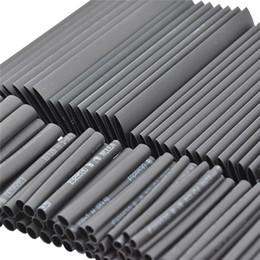 câbles thermorétractables Promotion Tube de câble d'isolation électrique d'enveloppe d'assortiment de tube thermorétractable noir de la chaleur 127pc