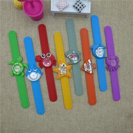 relógios de homem bonito Desconto Crianças dos desenhos animados de silicone relógios crianças criativo tapa relógio de pulso do bebê presente bonito relógios 8 estilos lla232