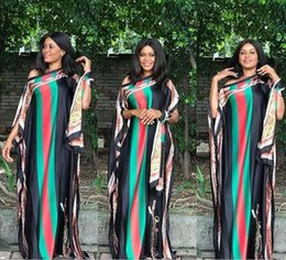 2020 robes femmes plus la taille robes africaines femmes vente chaude taille mode Big imprimé imitation robe de soie cou slash sexy en vrac Robes longues + Multistyle Foulard promotion robes femmes plus la taille