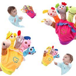 2019 karikatur-marionettenhandschuhe Handpuppe-Plüsch-Finger-Cartoon-Puppe-Geschichte, die Eltern-Kind-Interaktion erzählt rabatt karikatur-marionettenhandschuhe