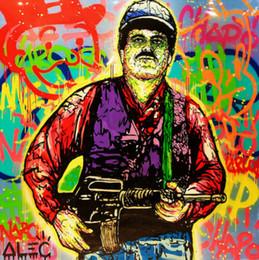 peinture à l'huile abstraite forêt hd Promotion Alec Monopoly art Graffiti Narcos Pablo Escobar Mur Art Décoration intérieure Artisanats / HD Imprimer Peinture à l'huile sur toile Image 190919