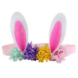 Bandas de pascua de Pascua banda para el cabello orejas de conejo accesorios para el cabello recién nacido niños niños diadema muchachas lindas guirnalda bebé fiesta joyería A22101 desde fabricantes