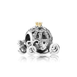 Authentic 925 Sterling Silver Abóbora Charm Set Caixa Original para Pandora DIY Pulseira Contas de Cristal Encantos acessórios de moda clássicos de
