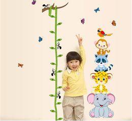 adesivi per pareti per bambini Sconti Simpatici animali tigre impilano adesivi murali misurare l'altezza bambini decalcomania vinile adesivo carta da parati murale bambina arredamento vivaio camera boy