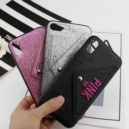 Coque TPU Rose Souple Glitter Bling Pour Iphone XR X XS Max 8 7 6 6 S Plus Étincelant Cartes Couverture De Téléphone ? partir de fabricateur