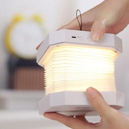 lettore mp3 al litio Sconti Luce d'organo Bluetooth Audio Creative Multi Fold Flip Pagina LED Light Book Luce creativa di notte