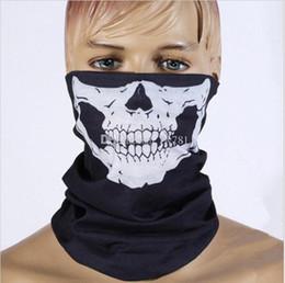 500 teile / los Halloween Schädel Skeleton Party Masken Schwarz Motorrad Multi Funktion Headwear Hut Schal Hals Sport Gesicht Winter Ski Maske von Fabrikanten