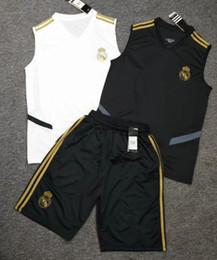 2019 futebol shorts real madrid 2019 2020 Real Madrid training vest terno 19 20 camiseta de futbol HAZARD shorts Camisa kit RAMOS MODRIC ASENSIO ISCO camisa de futebol set futebol shorts real madrid barato